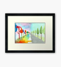Two ways of life Framed Print