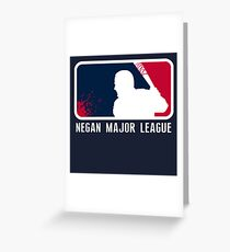 Negan Major League Greeting Card