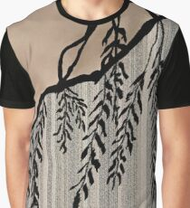 Pinstripe, Willow, and clouds Graphic T-Shirt