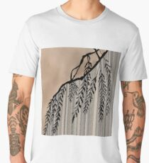 Pinstripe, Willow, and clouds Men's Premium T-Shirt