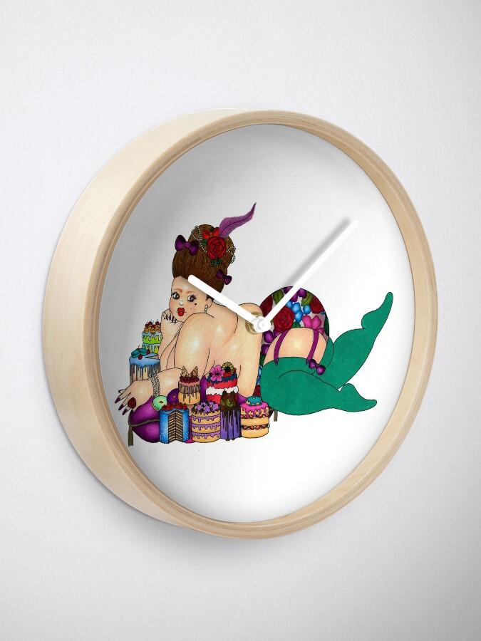 Alternate view of Let Her Eat Cake Clock
