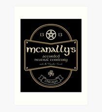 McAnally's Pub Art Print