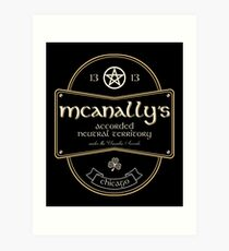McAnally's Pub Kunstdruck