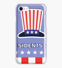 Presidents Day Icon Isolated on Blue Background iPhone Case/Skin