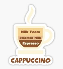 Cappuccino Cup // Coffee Art Sticker