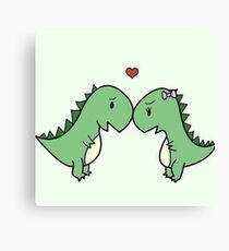 Love Dino Canvas Print