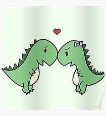 Love Dino Poster
