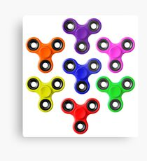 Finger Spinners Multi Coloured Metal Print