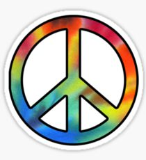 Peace Tie Dye Sticker