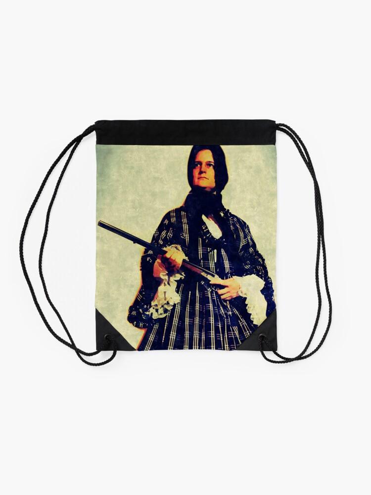 Alternate view of The widow Drawstring Bag