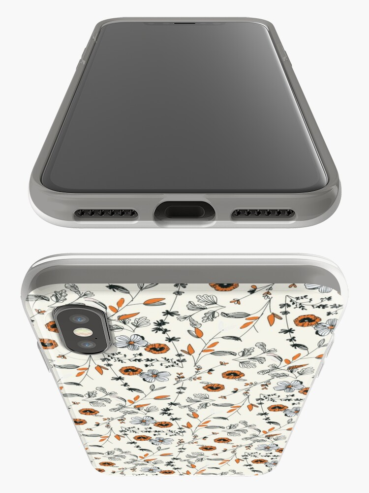 Alternate view of Orange Flower Pattern iPhone Cases & Covers