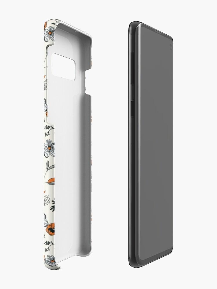 Alternate view of Orange Flower Pattern Case & Skin for Samsung Galaxy