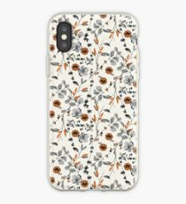Orange Flower Pattern iPhone Case