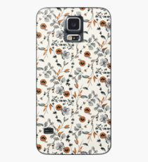 Orange Flower Pattern Case/Skin for Samsung Galaxy