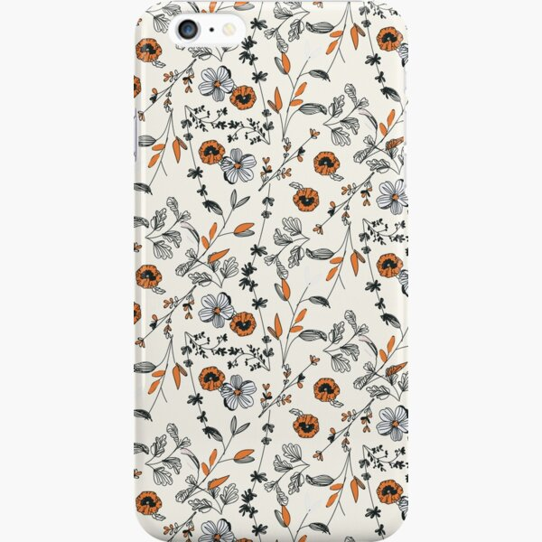 Orange Flower Pattern iPhone Snap Case