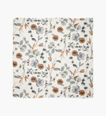 Orange Flower Pattern Scarf