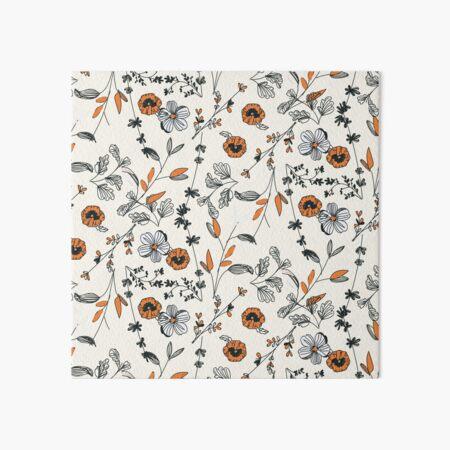 Orange Flower Pattern Art Board Print