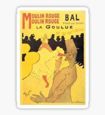 HENRI DE TOULOUSE LAUTREC, MOULIN ROUGE, POSTER Sticker