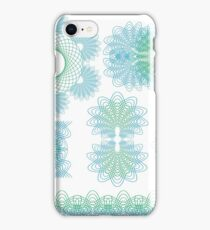 Set of Cuilloche Ornaments Isolated on White Background iPhone Case/Skin