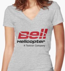 Bell Helicopter Women's Fitted V-Neck T-Shirt