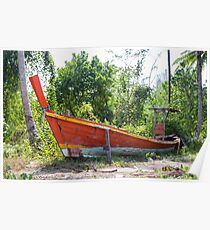 Jungle and boat wreck Poster