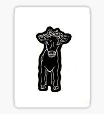 Baby Luna the Calf Sticker