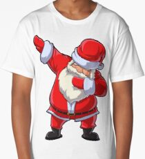Santa Claus Dabbing T Shirt Christmas Funny Dab Dance Gifts Long T-Shirt