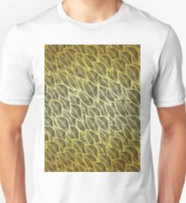 Gold leaves pattern T-Shirt