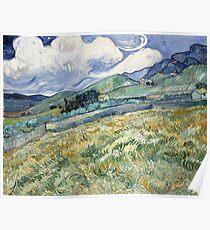 Van Gogh - Landscape from Saint-Rémy, 1889  Poster