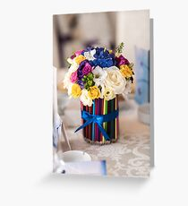 Close up of a gorgeous flower bouquet Greeting Card