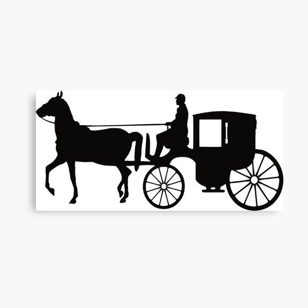 Man Driving Carriage Boy Canvas Print