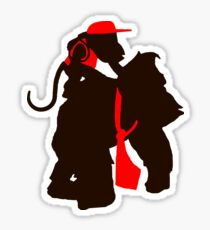 DK and Diddy (large print) Sticker
