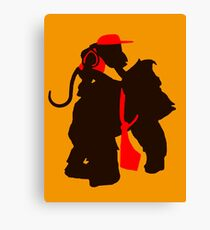 DK and Diddy (large print) Canvas Print