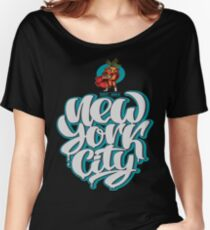 The Angry Carrot / Foodietoon SuperHero / NYC Women's Relaxed Fit T-Shirt