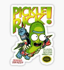 Pickle Rick NES Style Sticker