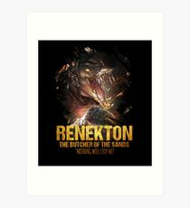 League of Legends RENEKTON - The Butcher Of The Sands Art Print