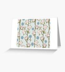 Cotton Flower Pattern Greeting Card
