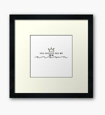 Moriarty Quote Framed Print