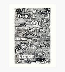 Denken Sie Traum Glauben Sie Art Print