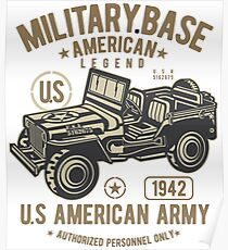 Military Vehicle Poster
