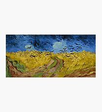 Wheatfield with Crows by Vincent Van Gogh Date:1890 Photographic Print