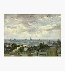View of Paris by Vincent Van Gogh, 1886  Photographic Print