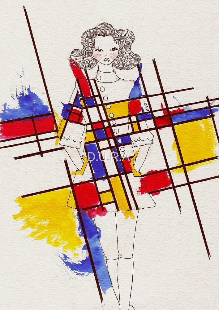 Mondrian inspired Dress by D.U.R.A .
