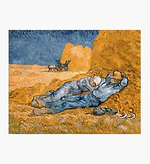 Van Gogh - Noon, Rest from Work  Photographic Print
