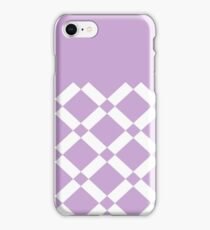 Abstract geometric pattern - purple and white. iPhone Case/Skin