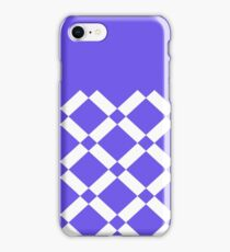 Abstract geometric pattern - blue and white. iPhone Case/Skin