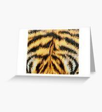 Painted Tiger Pattern Greeting Card