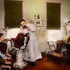 Dentist - Treating them like children 1922 by Michael Savad