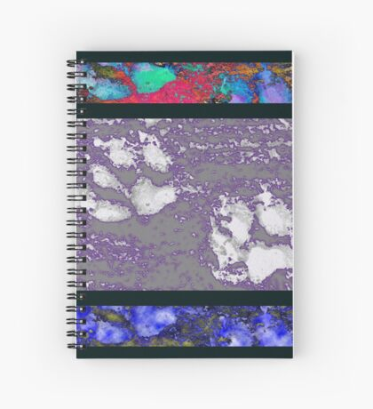 Framed Paw Prints Spiral Notebook