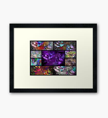 Crazy Paw Print Collage Framed Print